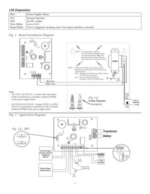 Fig 1, Board installation diagram, Fig 2  application