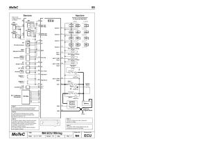 Ec mot, Motec 55, M4 ecu wiring | MoTeC M8 User Manual