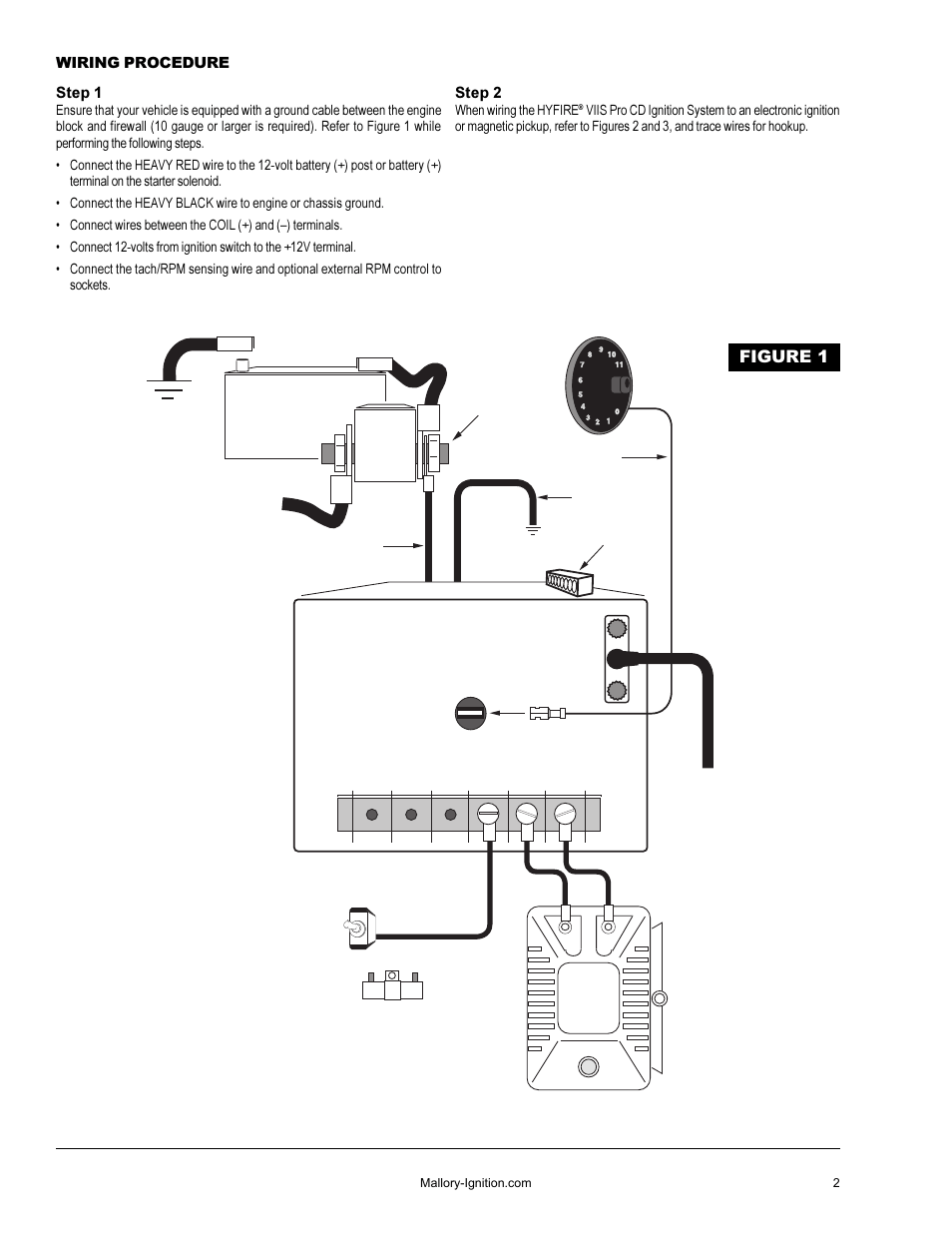 Pro Comp Distributor 3 Wire Diagrams Manual Of Wiring Diagram Mallory Autometer To Msd 8132 Lite