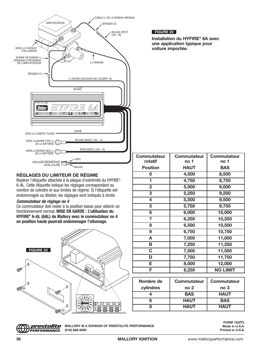 mallory ignition mallory hyfire 6a and 6al series electronic ignition controls 6852m_6853m page36?resize\\=665%2C861 mallory high fire ignition wiring diagrams mallory dist wiring mallory 6al wiring diagram at edmiracle.co