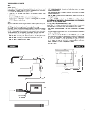Wiring procedure, Figure 4, 12vbattery () | Mallory Ignition Mallory HYFIRE IV SERIES Ignition