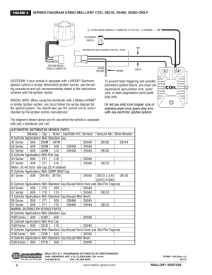 Mallory Ignition Mallory MAGNETIC BREAKERLESS DISTRIBUTOR 609 User Manual | Page 4  4
