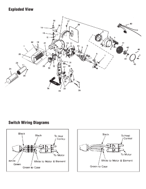 Exploded view switch wiring diagrams   Master Appliance