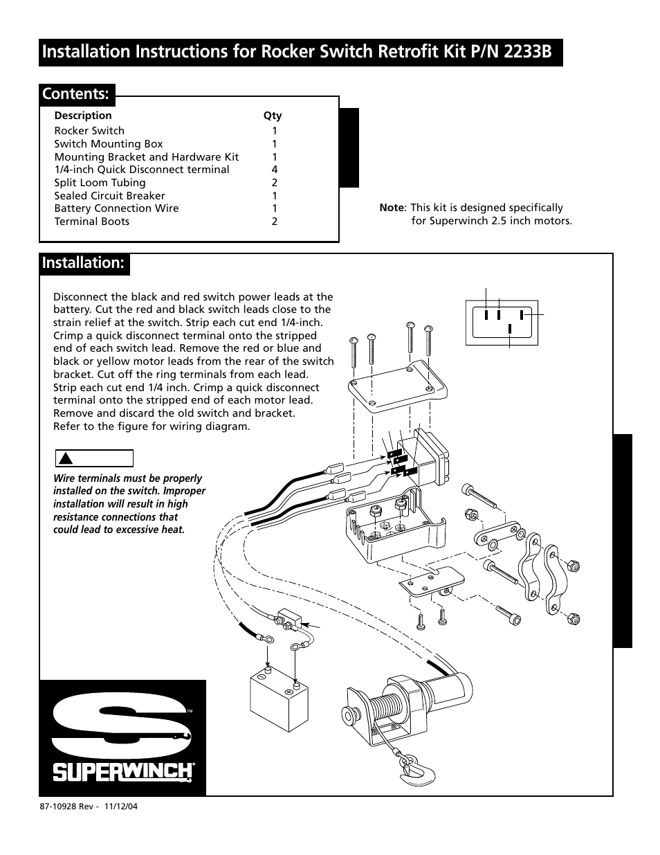wiring diagram also tuff stuff winch on tuff stuff