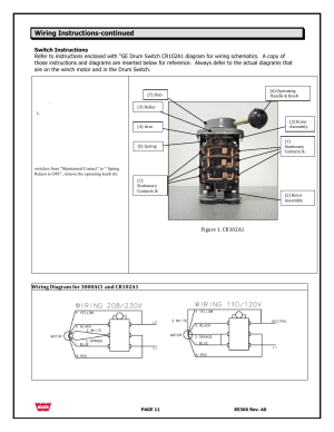 Wiring instructionscontinued | WARN 3000 ACI User Manual