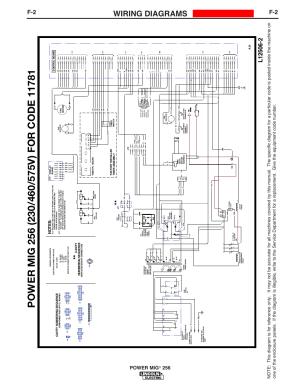 Wiring diagrams, Enhanced diagram, Power mig | Lincoln Electric IM10096 POWER MIG 256 User