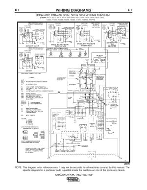 Wiring diagrams | Lincoln Electric IM409 IDEALARC R3R400