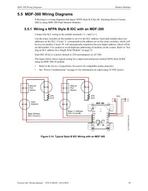 5 mdf300 wiring diagrams, 1 wiring a nfpa style b idc