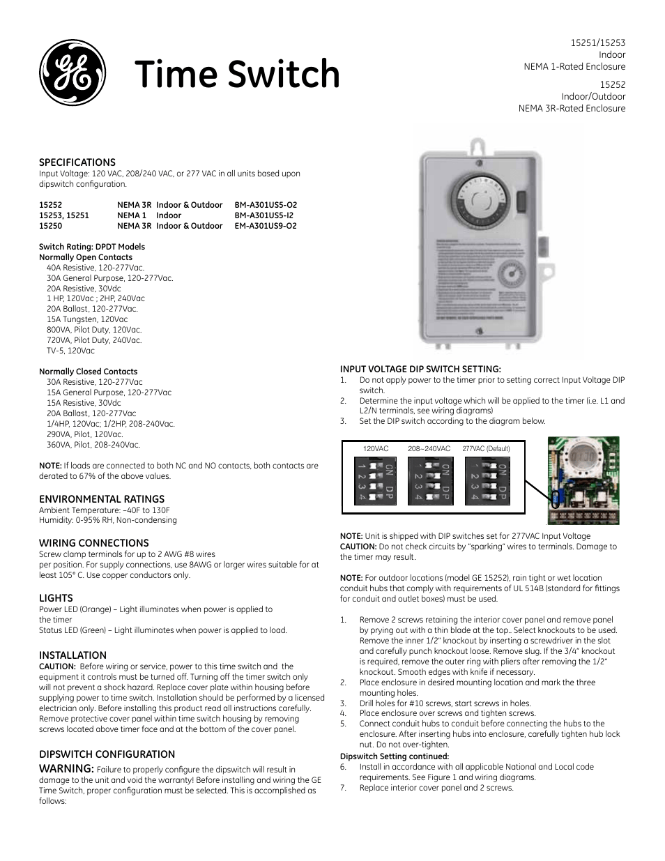 ge box timer ge time switch 15251 15252 and 15253 page1?resize\\\=665%2C861 tork duty cycle timer model 8004 wiring diagram,duty \u2022 limouge co  at et-consult.org