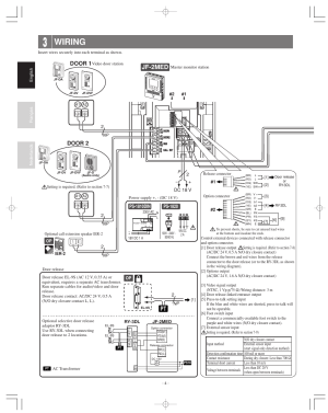 Wiring, Jf2med, Door 2 | Aiphone JF2MED User Manual | Page 4  16