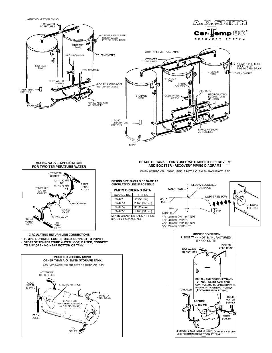 A O Smith Db Dw 720 User Manual