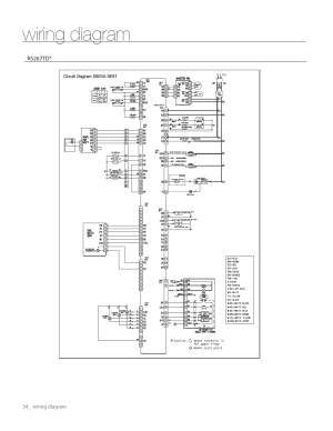 Wiring diagram | Samsung RS267TDWPXAA User Manual | Page