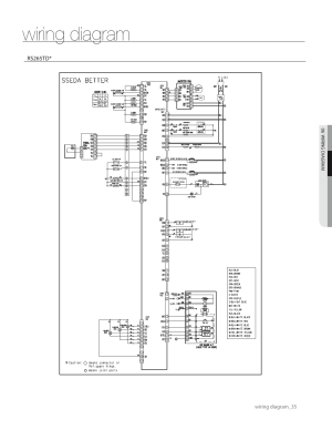 Wiring diagram | Samsung RS267TDWPXAA User Manual | Page 35  72