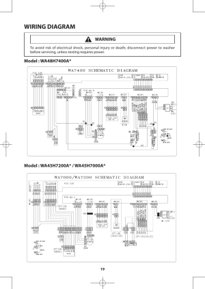 Wiring diagram | Samsung WA48H7400AWA2 User Manual | Page