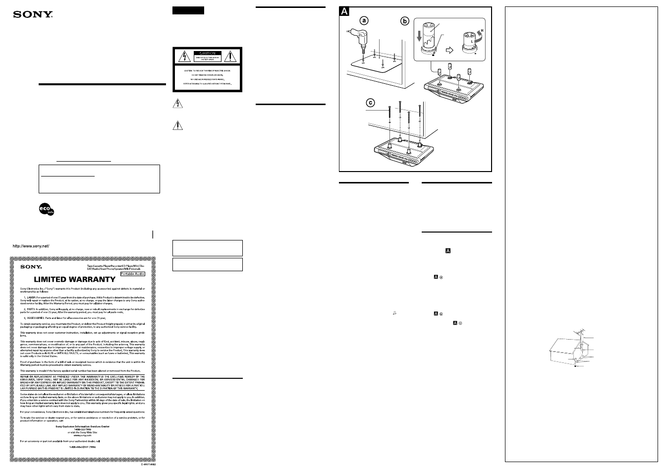 Sony Icf Cd555tv User Manual