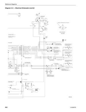 Diagram 43 — electrical schematic (cont'd), Reference diagrams, Mv0440 | Lull 1044C54 Series