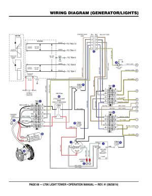 Wiring diagram (generatorlights), Ci j b f | Multiquip