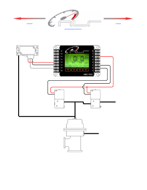 Wiring and plumbing diagram, aux channel, Wastegate