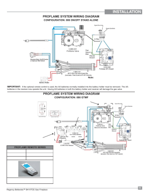 Installation, Proflame system wiring diagram | Regency