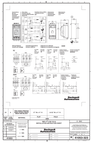 Smc3, E  doc, Wiring diagram schéma de câblage iec