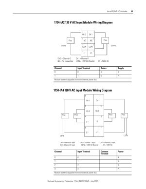 1734ia2 120 v ac input module wiring diagram, 1734ia4 120 v ac input module wiring diagram