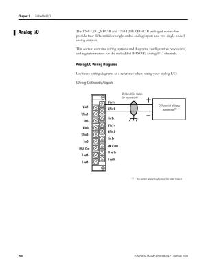 Analog io, Analog io wiring diagrams   Rockwell
