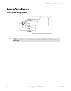 Reference wiring diagrams, Generic emitter wiring diagram   Banner EZSCREEN Safety Light