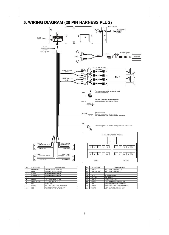 Wiring Diagram 20 Pin Harness Plug