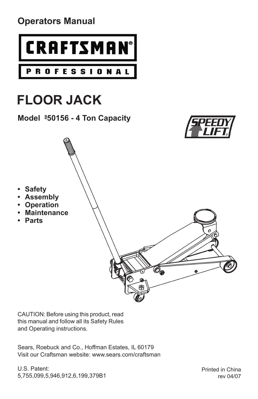craftsman 3 ton floor jack owners manual wikizie co rh wikizie co