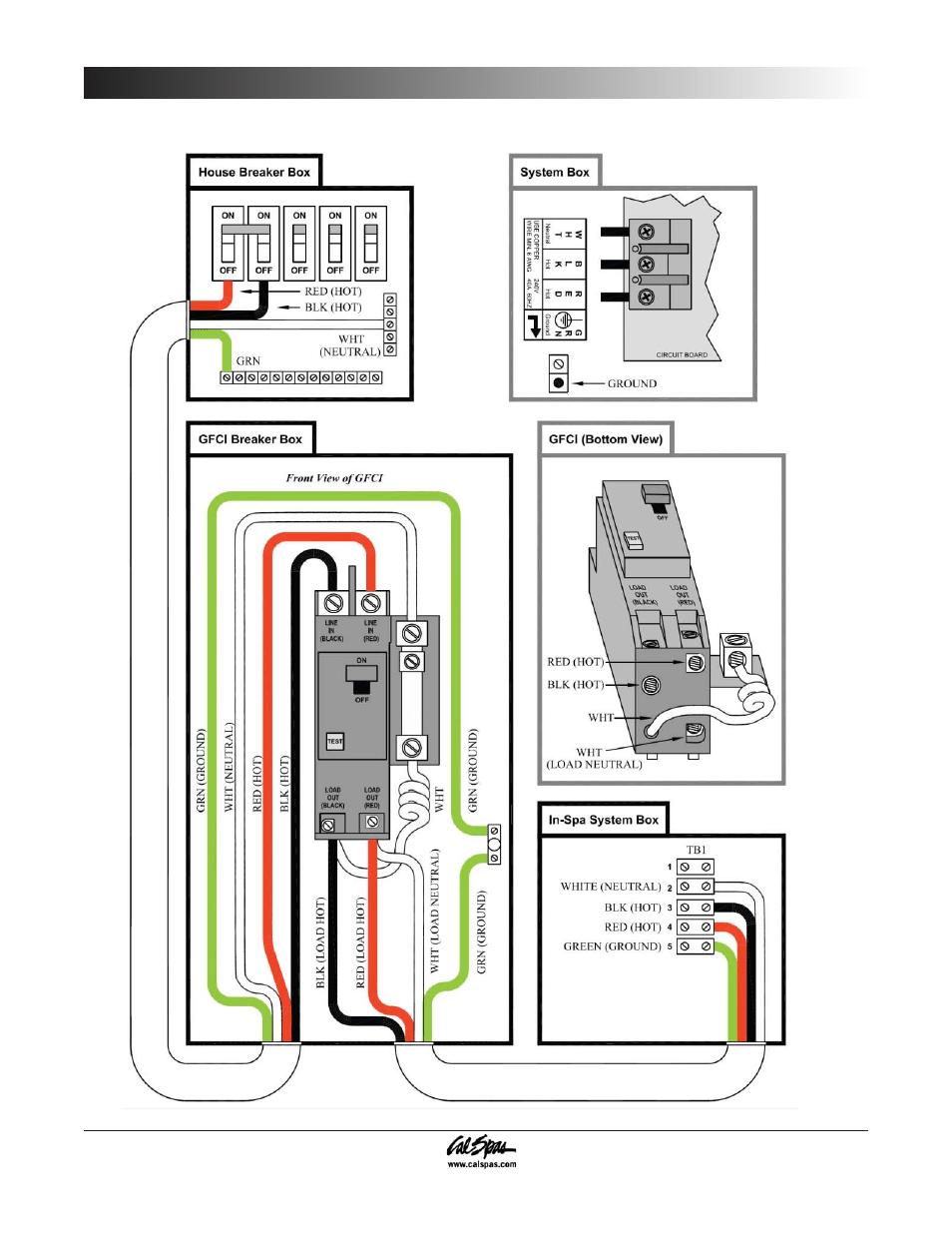 Diagram Go Cal Spa Wiring