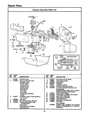 Chassis assembly parts list, Repair parts | Craftsman 1
