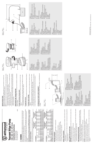 Attwood Tsunami T800 GPH Bilge Pump User Manual | 2 pages