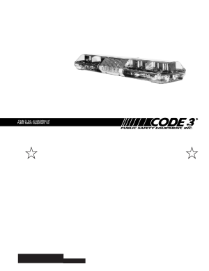 Code 3 MX 7000 User Manual | 32 pages