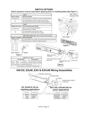 V40 ex, exxw, exv & exvxw wiring assemblies, Switch