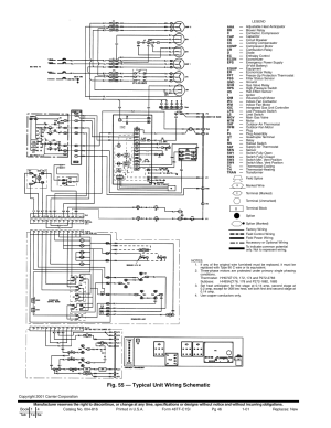 Fig 55 — typical unit wiring schematic | Carrier 48TFE008014 User Manual | Page 46  48