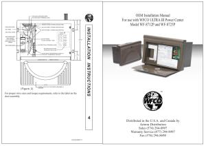 Oem manual | WFCO WF8725P User Manual | Page 5  6