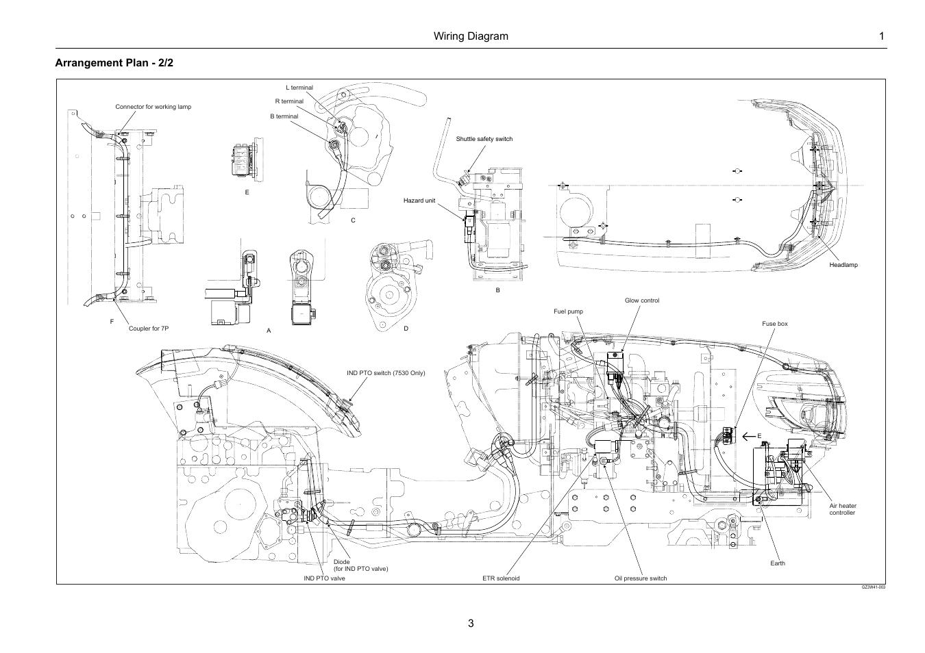 Wiring Diagram 1 3 Arrangement Plan