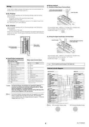 Wiring, Internal circuit diagram, Glr series | KEYENCE GL