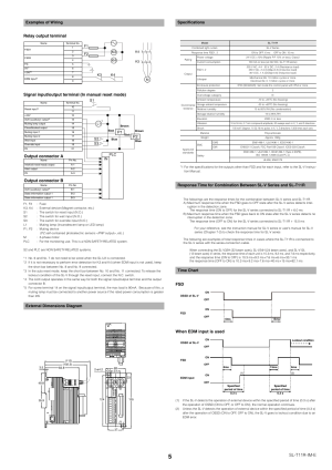 Examples of wiring, External dimensions diagram, Specifications | KEYENCE SLT11R User Manual