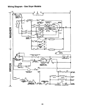 Wiring diagram  gas dryer models | Whirlpool Thin Twin