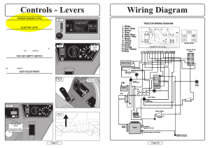 Wiring diagram controls  levers | Countax A50 User Manual