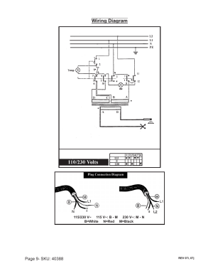 Wiring diagram | Chicago Electric 40388 User Manual | Page