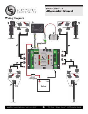 Wiring diagram, Aftermarket manual | Lippert Components Ground Control 30 Aftermarket User
