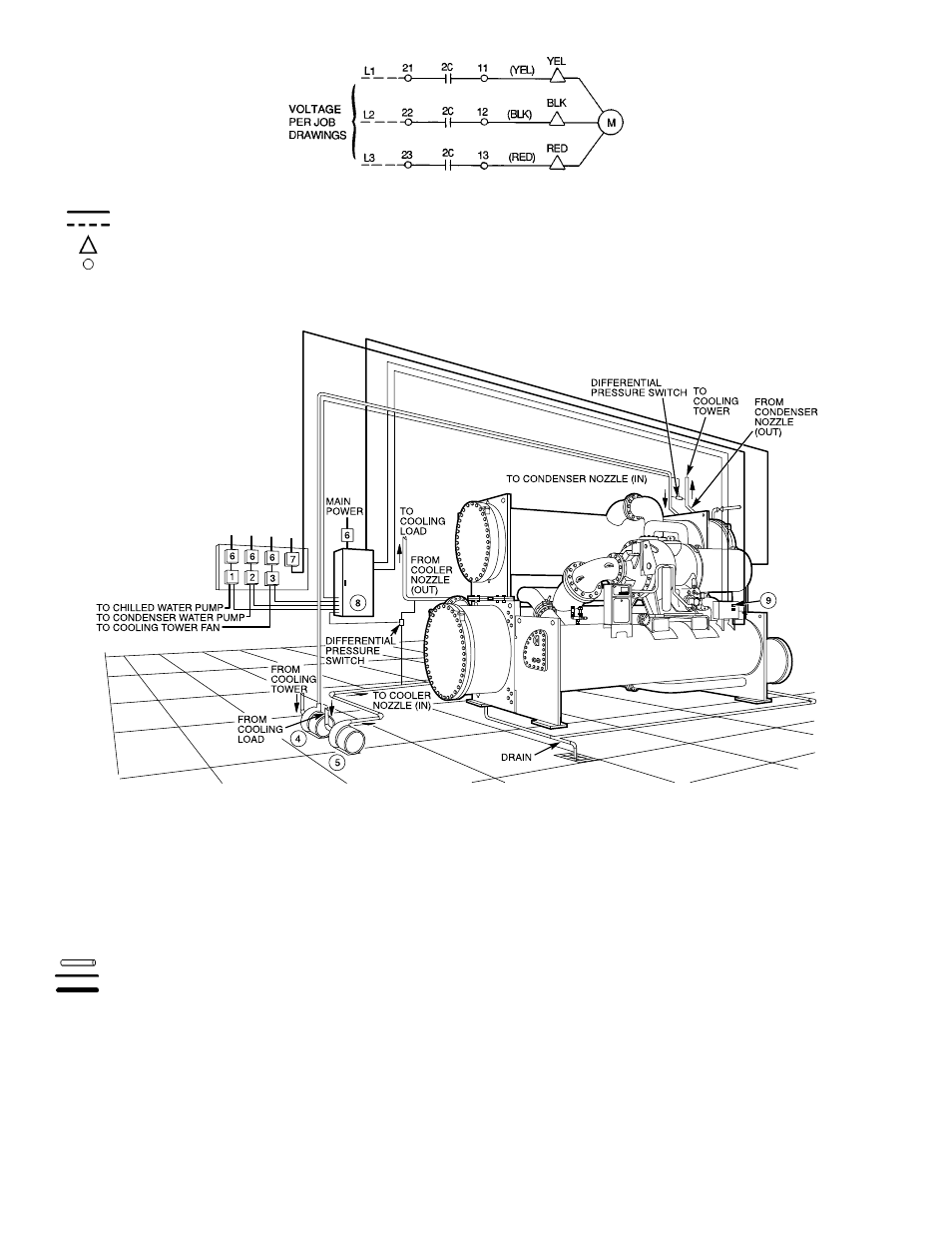 Centrifugal Chiller Piping Diagrams