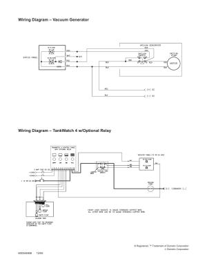 Wiring diagram – vacuum generator, Wiring diagram