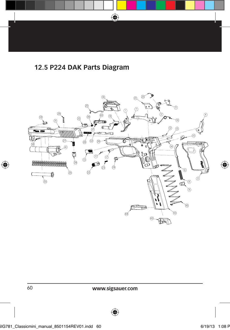 Exploded Diagram Of A 1911 Pistol