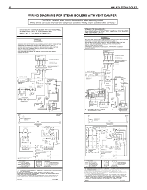 Wiring diagrams for steam boilers with vent damper, 16 galaxy steam boiler, Warning | SlantFin