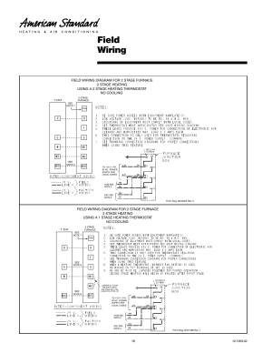 Field wiring | American Standard Freedom 80 User Manual | Page 18  24