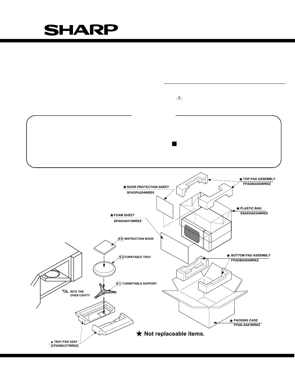 parts list r 305ks microwave oven