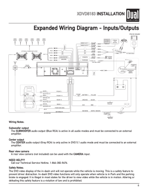 Expanded wiring diagram  inputsoutputs, Xdvd8183